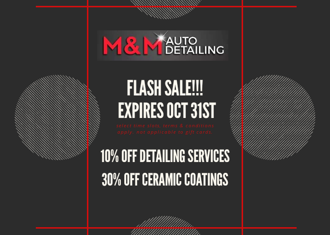 MM Auto Detailing October 2019 Coupon