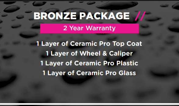 Ceramic Pro Packages - Bronze