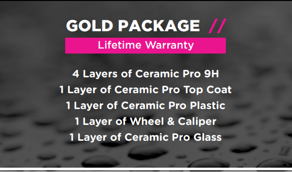 Ceramic Pro Packages - Gold